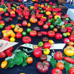 Tomatoes at Nice market