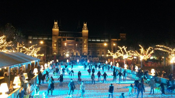 Ice skating, Museumplein, Amsterdam